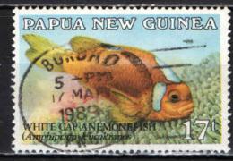 PAPUA NUOVA GUINEA - 1987 - White-cap Anemonefish - USATO - Papua Nuova Guinea