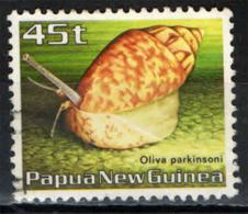 PAPUA NUOVA GUINEA - 1986 - Oliva Parkinsoni - USATO - Papua Nuova Guinea