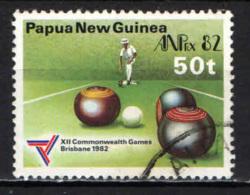 PAPUA NUOVA GUINEA - 1982 - Lawn Bowling - USATO - Papua Nuova Guinea