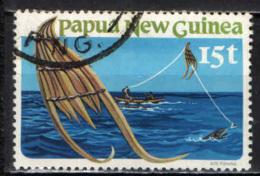 PAPUA NUOVA GUINEA - 1981 - Kite Fishing - USATO - Papua Nuova Guinea