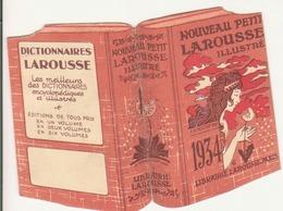 """Petit Calendrier En Forme De Dictionnaire """"nouveau Petit Larousse Illustré"""" 1934 - Kalenders"""