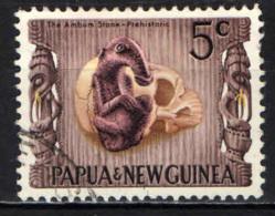 PAPUA NUOVA GUINEA - 1970 - Prehistoric Ambum Stone And Skull - USATO - Papua Nuova Guinea
