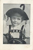 Early Advertisement Card,  Young Boy In Tyrol Dress, Heidenrijk, Koffie, Hoorn - Reclame