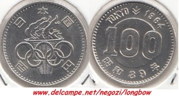 GIAPPONE 100 Yen 1964 SILVER - Summer Olympic Games Tokyo - Km#79 - Japan