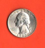 USA Quarters 1/4 Quarto Dollaro 1962 D Washington Stati Uniti America - Federal Issues
