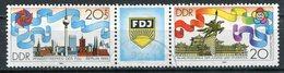 DDR Michel-Nr. 3248-3249 Dreierstreifen Gestempelt Tagesstempel - Gebraucht