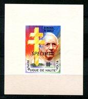 Thème Général De Gaulle - Haute Volta Yvert BF 413 Surcharge SPECIMEN - Neuf XXX - Lot 177 - De Gaulle (General)