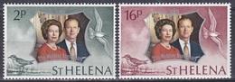 St. Helena 1972 Geschichte History Persönlichkeiten Königshäuser Royals Königin Elisabeth Silberhochzeit, Mi. 258-9 ** - St. Helena