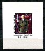 Thème Général De Gaulle - Congo Yvert BF 477 Surcharge SPECIMEN - Neuf XXX - Lot 177 - De Gaulle (General)