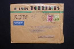 ESPAGNE - Enveloppe Commerciale De Barcelone Pour Paris En 1934 - L 28784 - 1931-50 Briefe U. Dokumente