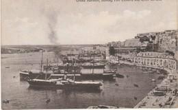 Malta Grant Harbour , Showing Fort Lascaris And Upper Baracca - Malte