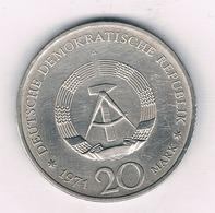20 MARK 1971 A  DDR  DUITSLAND /3861/ - [ 6] 1949-1990 : RDA - Rép. Démo. Allemande