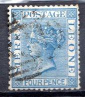 SIERRA LEONE - (Colonie Britannique) - 1876-96 - N° 15 - 4 P. Bleu - (Victoria) - Sierra Leone (...-1960)