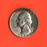 USA Quarters 1/4 $ Dollar 1955 D Quarto Dollaro Washington Stati Uniti America - Federal Issues