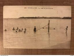 St Pair Sur Mer. La Plage Au Loin Granville - Saint Pair Sur Mer