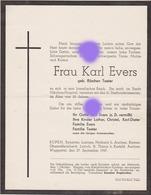 Frau Karl Evers Taeter 1947 Eupen Eynatten Lontzen Raeren ... - Announcements