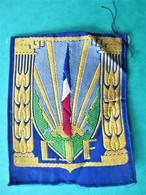 Ecusson, Insigne Tissu CJF Chantiers De La Jeunesse PETAIN - Etat Neuf  6,5 Cms X 8,5 Cms - Guerre 1939-45