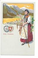 21939 - Costumes Suisses Grison Graubünden Schweizer Trachten - Costumes