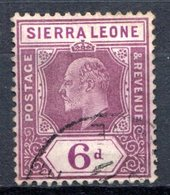 SIERRA LEONE - (Colonie Britannique) - 1904-05 - N° 70 - 6 P. Violet-brun - (Edouard VII) - Sierra Leone (...-1960)