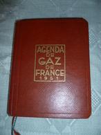 Agenda De 1951 , Gaz De France Avec Fiches Techniques Et Publicités , - Calendarios