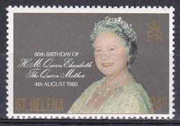 St. Helena 1980 Geschichte History Königshäuser Royals Geburtstag Birthday Königinmutter Elisabeth, Mi. 330 ** - St. Helena