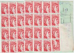 Ordre De Réexpédition Définitif O.Semeuse Timbre De Roulette + étiquette Nîmes -> Aix - Postmark Collection (Covers)
