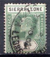 SIERRA LEONE - (Colonie Britannique) - 1904-05 - N° 71 - 1 S. Vert Et Noir - (Edouard VII) - Sierra Leone (...-1960)