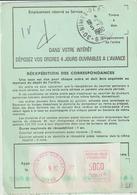 Ordre De Réexpédition Définitif O. étiquette Seule Nîmes -> St Rémy Les Chevreuses - Marcophilie (Lettres)