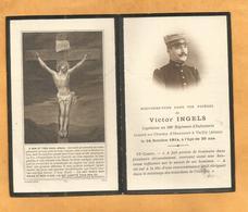 FAIRE PART DECES  SOLDAT POILU  MILITAIRE REGIMENT  WWI 106 EME RI INFANTERIE CAPITAINE VAILLY 1914 - Documents