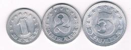 1+2+5 DINAR 1963 JOEGOSLAVIE /3869/ - Yougoslavie