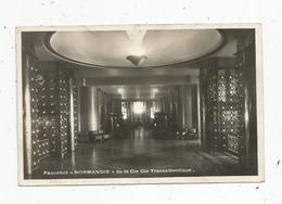 Cp, Bateau, Paquebot NORMANDIE,le Hall ,les Ascenceurs , Au Fond Le Grand Salon - Dampfer