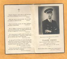 FAIRE PART AVIS  DECES MILITAIRE  AVIATEUR AVIATION JUIN 1940 SOUS LIEUTENANT DE CHASSE 1940 WW2 - Documents