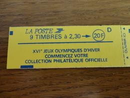 TIMBRE DE FRANCE CARNET 2614 C8 - Carnets