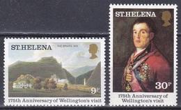 St. Helena 1980 Geschichte History Persönlichkeiten Herzog Wellington Kunst Art Gemälde Paintings Goya, Mi. 331-2 ** - St. Helena