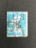 FRANCE U N° 140 Semeuse US/L 13Indice 6 Roulette Perforé Perforés Perfins Perfin ! Superbe - France