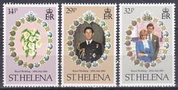 St. Helena 1981 Geschichte History Persönlichkeiten Royals Hochzeit Prinz Charles Lady Diana Spencer, Mi. 342-4 ** - St. Helena