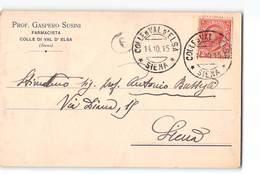 1124 02 SIENA COLLE DI VAL D' ELSA SUSINI FARMACISTA - 1900-44 Vittorio Emanuele III