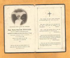 IMAGE GENEALOGIE FAIRE PART AVIS DECES CARTE MORTUAIRE SOEUR DE LA CHARITE SAINT VINCENT DE PAUL  CORNETTE TRYES 1930 - Décès
