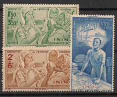 Inini - 1942 - Poste Aérienne PA N°Yv. 1 à 3 - PEIQI - Neuf Luxe ** / MNH / Postfrisch - Inini (1932-1947)