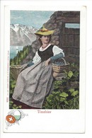 21953 - Costumes Suisses Vaudoise Schweizer Trachten - Costumes