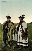 Cp Hortobagy Ungarn, Gulyasok, Ungarische Hirten In Trachten - Costumes