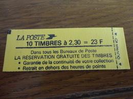 TIMBRE DE FRANCE CARNET 2614 C1A - Carnets