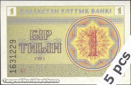 TWN - KAZAKHSTAN 1a - 1 Tyin 1993 DEALERS LOT X 5 - Series АГ UNC - Kazakistan