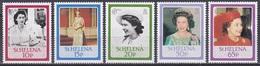 St. Helena 1986 Geschichte History Persönlichkeiten Königshäuser Royals Königin Elisabeth II. Queen, Mi. 441-5 ** - Isla Sta Helena