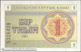 TWN - KAZAKHSTAN 1a - 1 Tyin 1993 Series АЕ UNC - Kazakistan