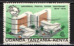 KENYA-UGANDA-TANZANIA - 1974 - CENTENARIO DELL'UPU - USATO - Tanzania (1964-...)