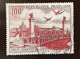 FRANCE Yvert: PA 28 Oblitéré (used) Petit Pli En Bas A Droite Non Visible Sur Le Scan - 1927-1959 Matasellados
