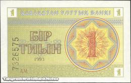 TWN - KAZAKHSTAN 1c - 1 Tyin 1993 Series АМ UNC - Kazakistan