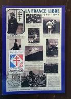 FRANCE Yvert 2656 Carte Maximum. 1 Er Jour France Libre 1940-1944. - Maximumkarten