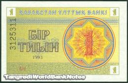TWN - KAZAKHSTAN 1d - 1 Tyin 1993 Series AH UNC - Kazakistan